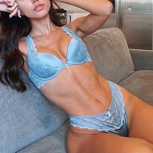 Blue Lingerie Set